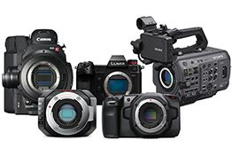 We list some of the top pro-grade camcorders, studio cameras and b-cameras.