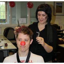 Wex Photographic Comic Relief Tom Sabrina hair cut