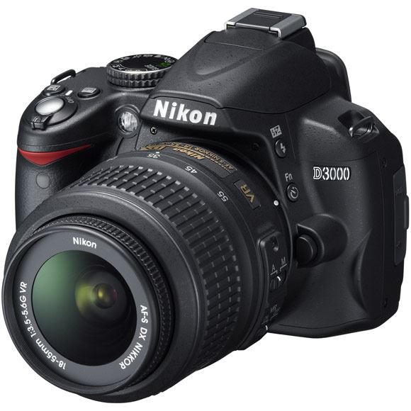 The new Nikon D3000 entry-level digital SLR