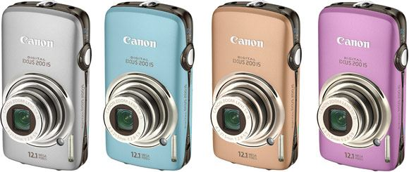 Canon IXUS 200 IS: Available in silver, blue, gold and purple.