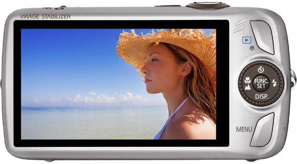 Canon IXUS 200 IS with 3 inch touch screen