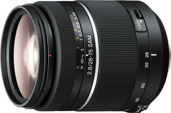 Sony 28-75mm f2.8 lens with Smooth Autofocus Motor