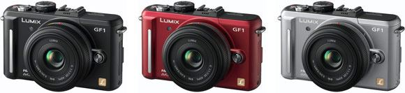 The Panasonic GF1 will be available in black, red, and silver