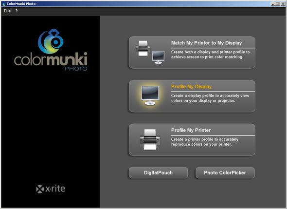 ColorMunki Photo display calibration screen