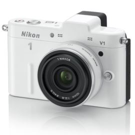 The 1 V1 White Digital Camera with 10mm Lens