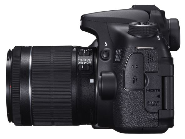 Canon EOS 70D - Side
