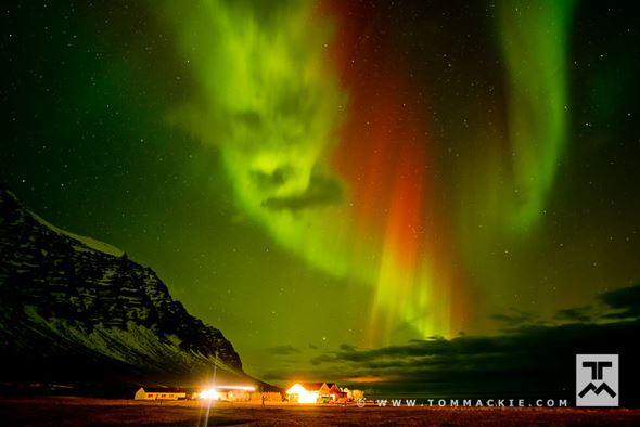 Angry Aurora Face, Hali, Iceland