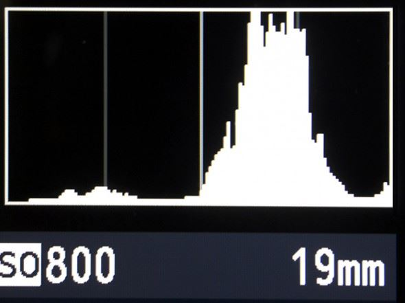 As you apply exposure compensation, make sure the data in your histogram does not move too far to the right.