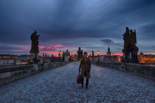 One night in Prague. You don't get this kind of drama by holding your phone at arm's length!