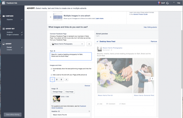 Stop wasting money and start selling photos with our quick guide to Facebook ads