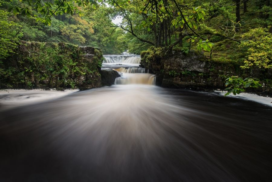 Photographing the Afon Nedd Waterfalls in the Brecon Beacons