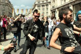 Ross Double talks about a personal project that's close to his heart, documenting the first punk float at Pride in London