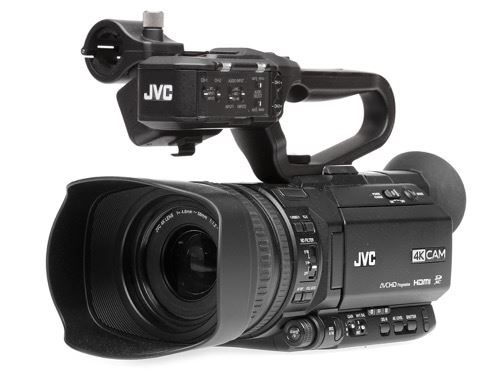 New on-board graphical features, 4:2:2 shooting and 3G-SDI output graces JVC's 4KCAM range, via the release of three new cameras