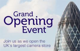 Join us in London for deals, demos, talks and surprises as we open the UK's largest camera store.