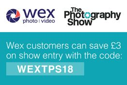 Heading to the Photography Show this March? Visit Wex Photo Video at Stand C120 for some fantastic deals in photo and video gear.