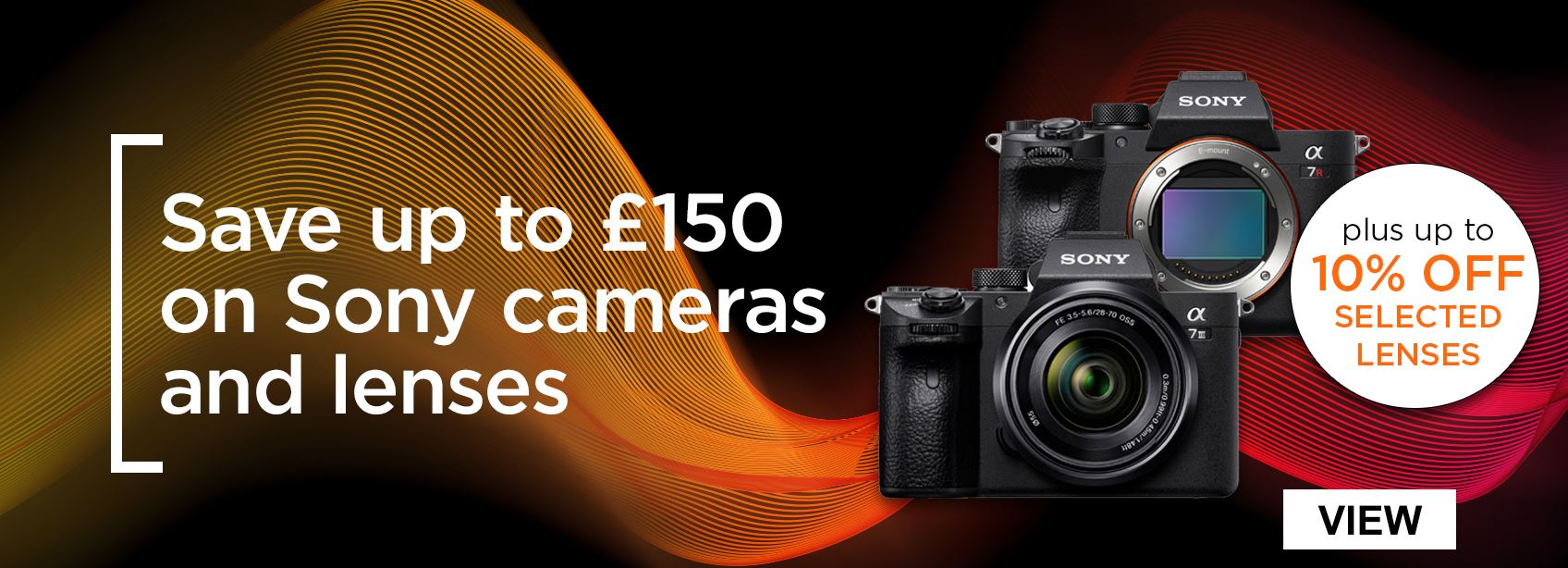 Save up to £150 on Sony cameras and lenses