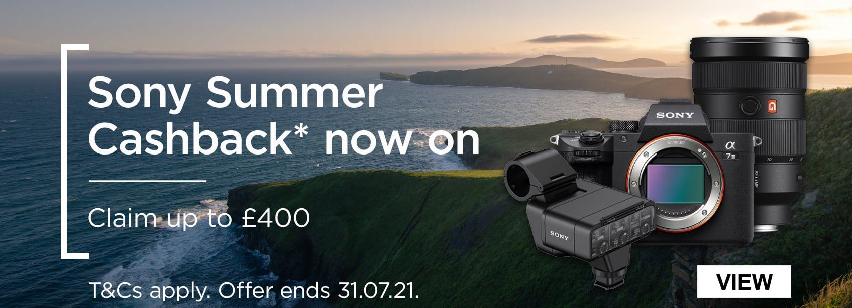 Sony Summer Cashback now on - Claim up to £400