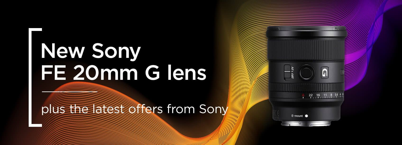 New Sony FE 20mm G lens