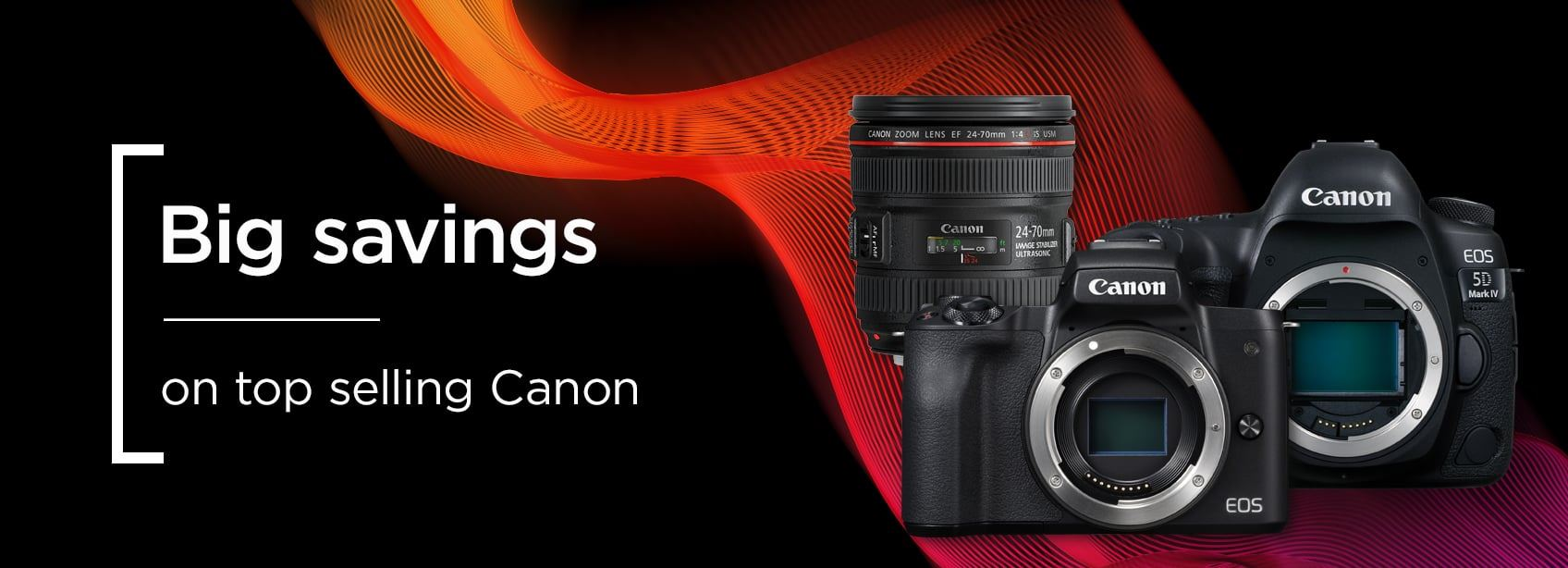 Big savings on top selling Canon