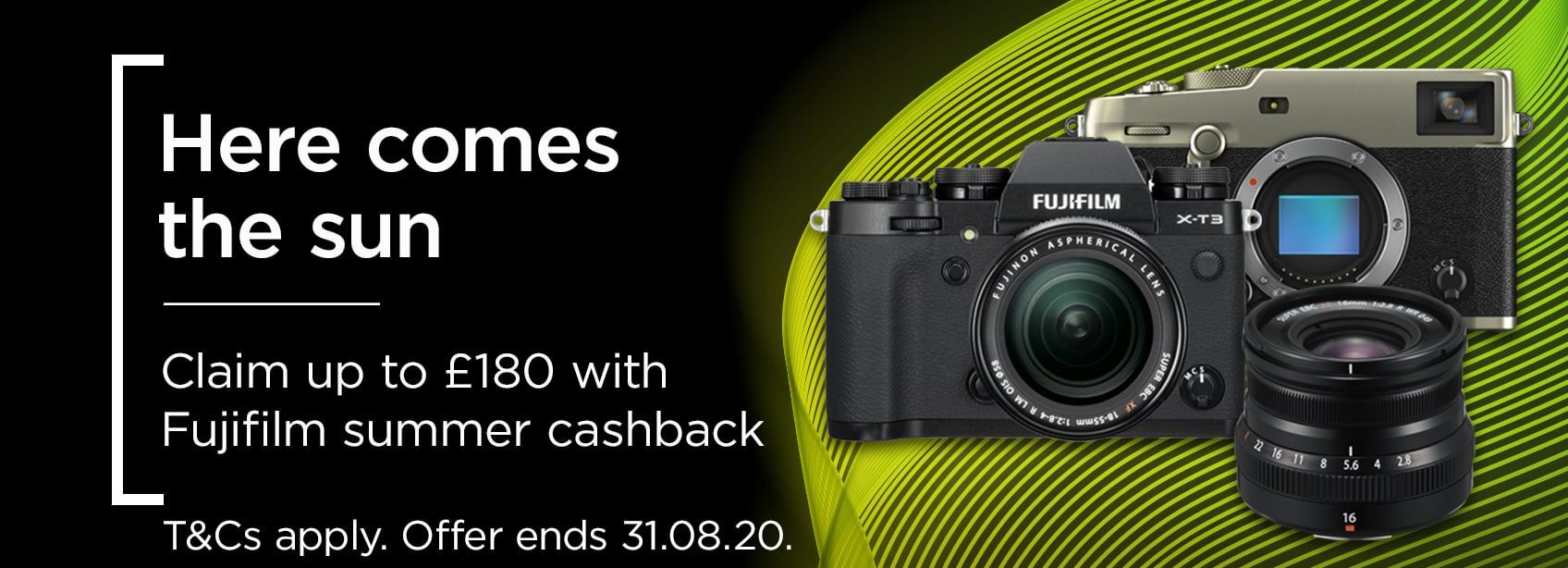 Here comes the sun - Claim up to £180 with Fujifilm summer cashback
