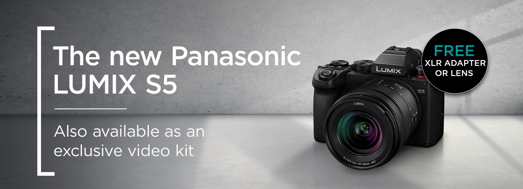 The new Panasonic Lumix S5 - Also available as an exclusive video kit