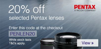 20% off selected Pentax Lenses