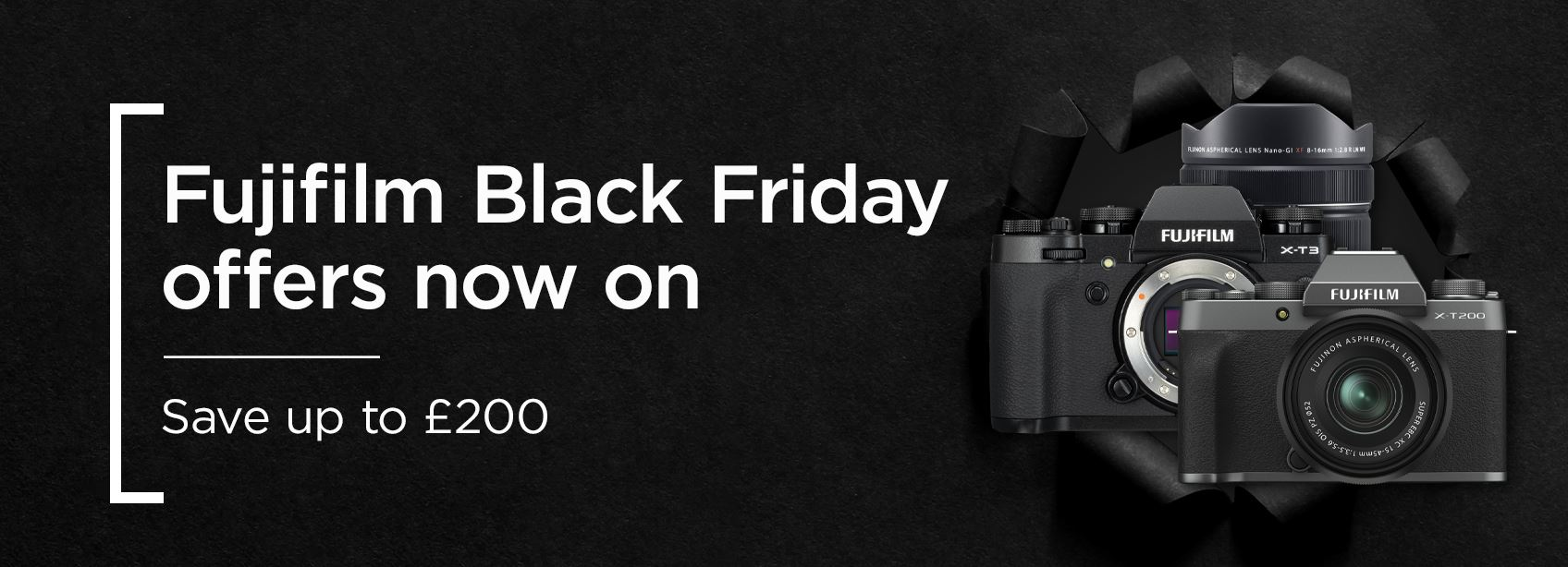 Fujifilm Black Friday offers now on - Save up to £200