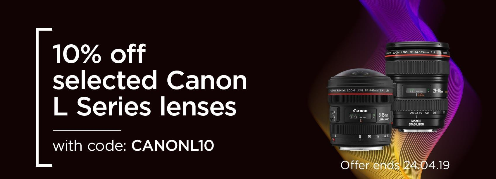 10% off selected Canon L Series Lenses