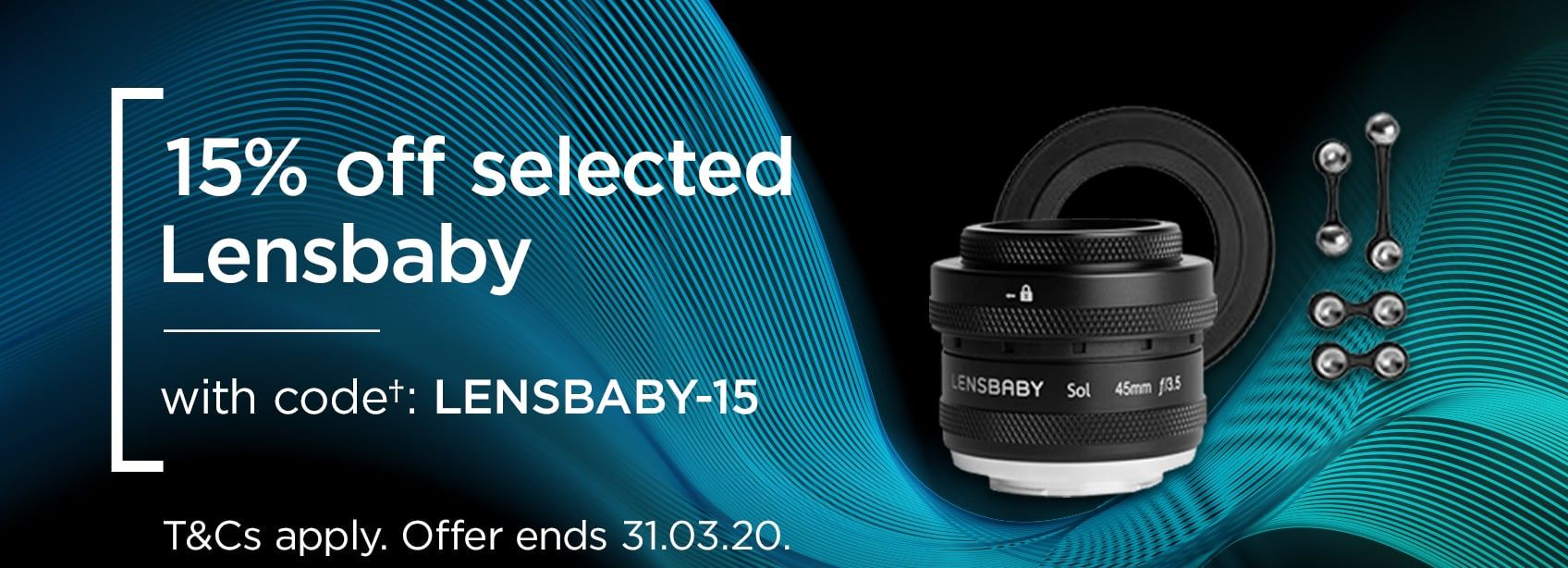 15% off selected Lensbaby - with code LENSBABY-15 T&Cs apply. Offer ends 31.03.20