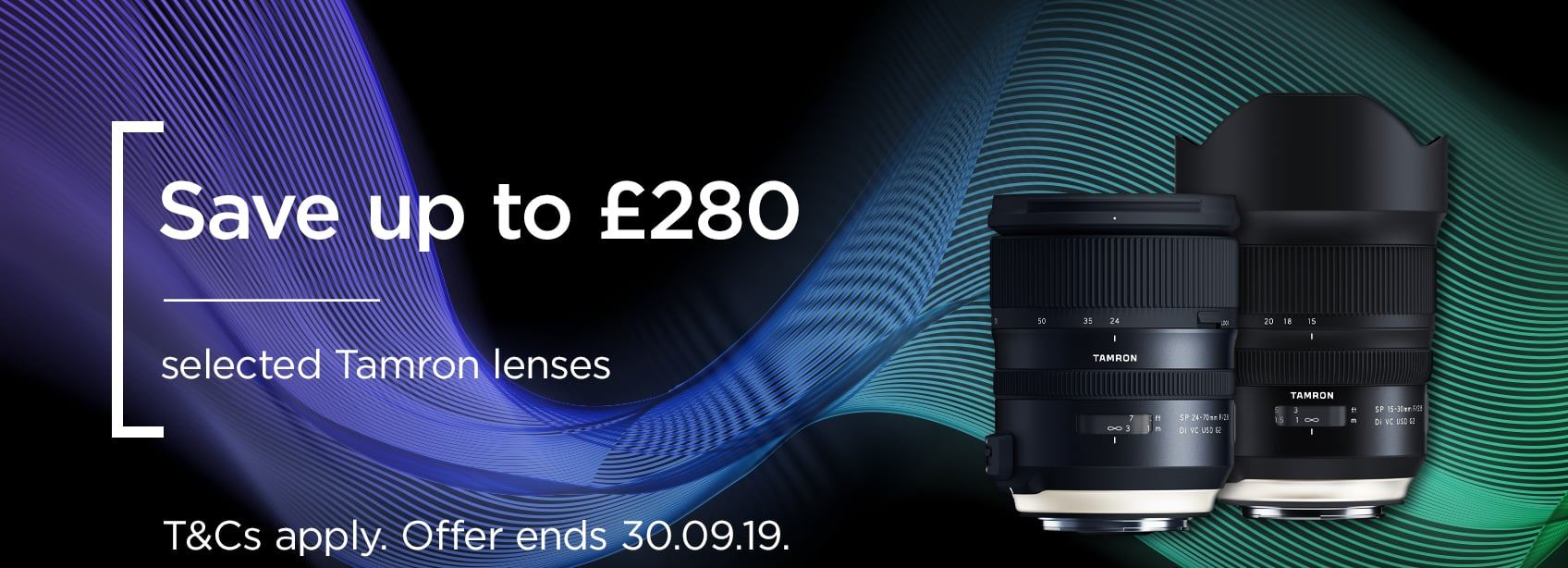 Tamron selected lenses - Save up to £280