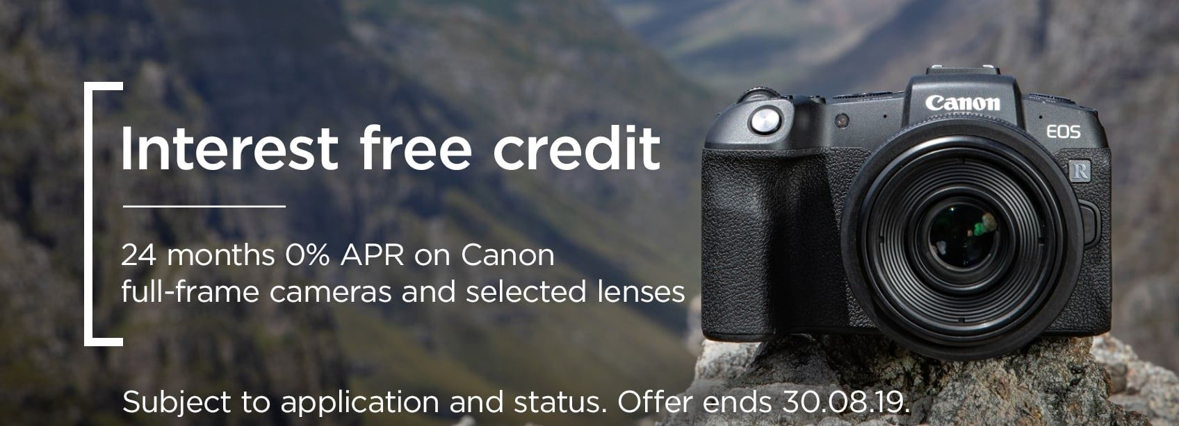 24 months' 0% APR on Canon full-frame cameras and selected lenses