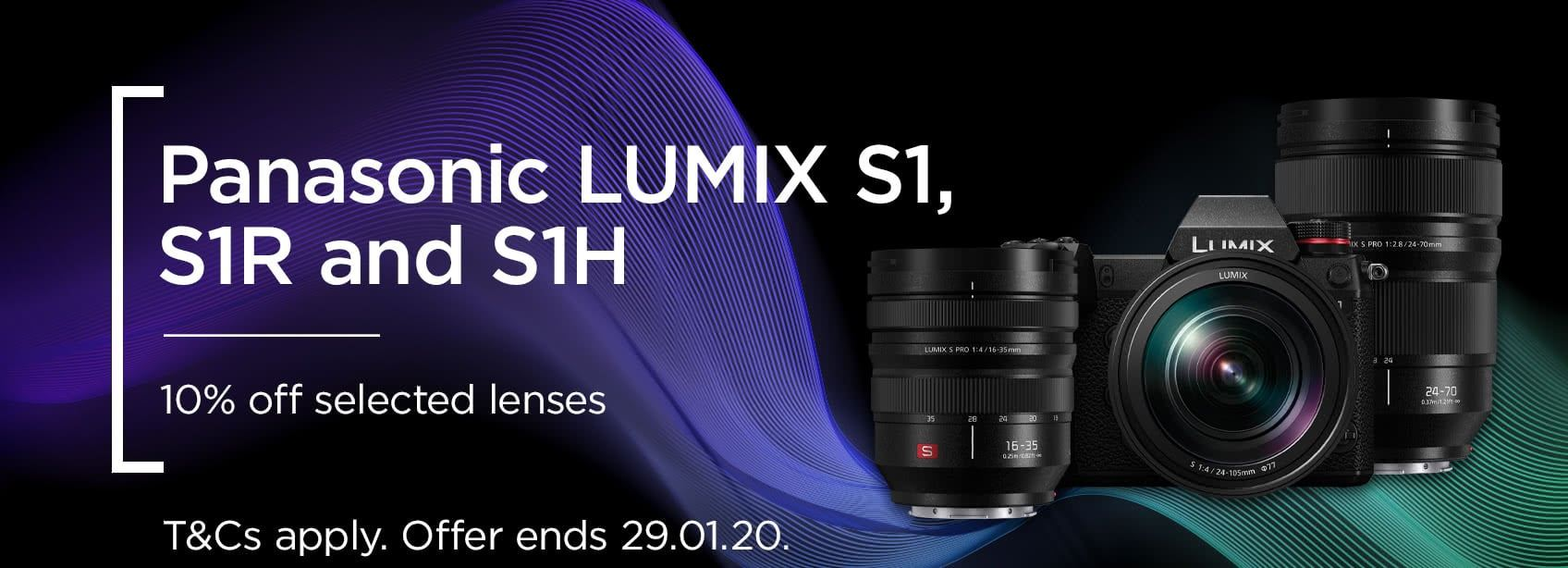 Panasonic LUMIX S1, S1R and S1H - 10% off selected lenses