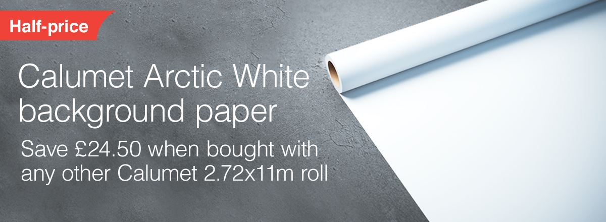 Calumet Arctic White Paper Background Offer - Get Second Roll Half Price!