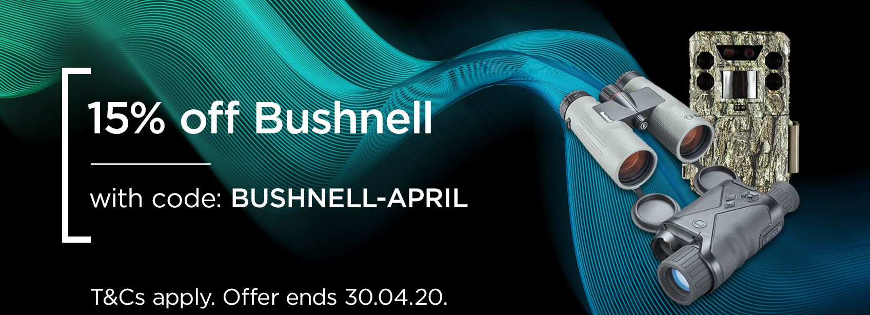 15% off Bushnell Sports Optics with BUSHNELL-APRIL
