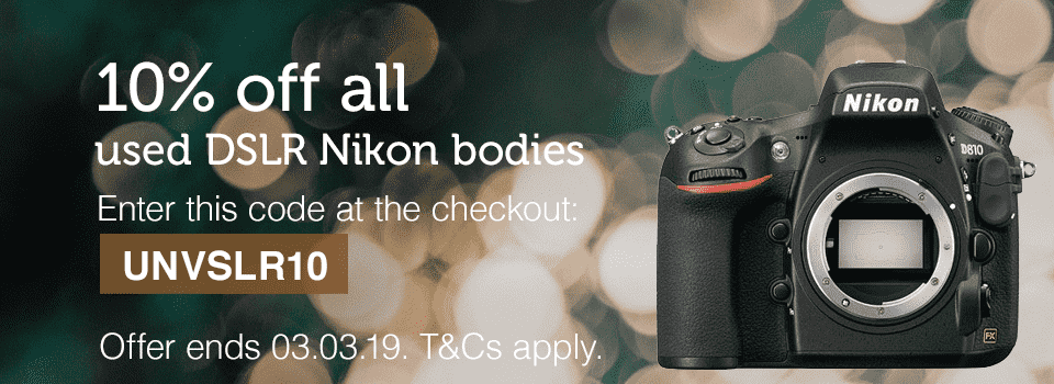 10% off used Nikon products