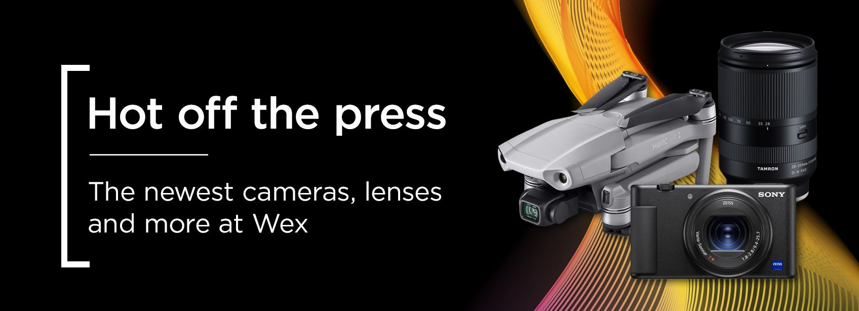 Hot off the press - The newest camerasm lenses and more at Wex