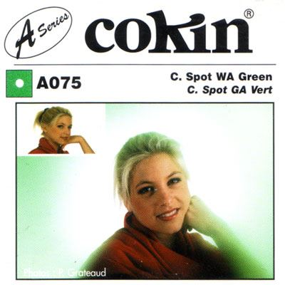 Image of Cokin A075 C Spot WA Green Filter