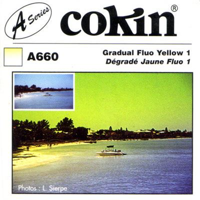 Cokin A660 Gradual Fluorescent Yellow 1 Filter