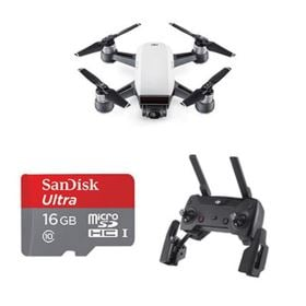 DJI Spark Mini Drone Fly Now Combo - Alpine White