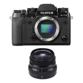 Fujifilm X-T2 with 35mm f2 R WR Fujinon Lens - Black