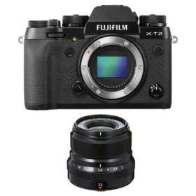 Fujifilm X-T2 Digital Camera with 23mm f2 R WR XF Lens - Black