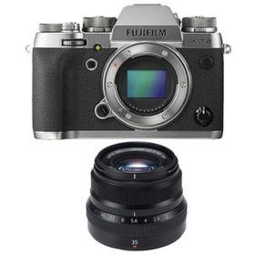 Fujifilm X-T2 Digital Camera - Graphite with Fujifilm 35mm f2 R WR Fujinon Lens - Black