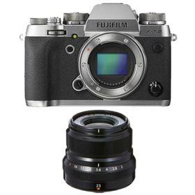Fujifilm X-T2 Digital Camera - Graphite with Fujifilm 23mm f2 R WR XF Lens - Black