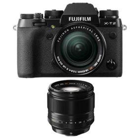 Fujifilm X-T2 Digital Camera with 18-55mm XF lens + 56mm f1.2 R XF Fujinon Lens