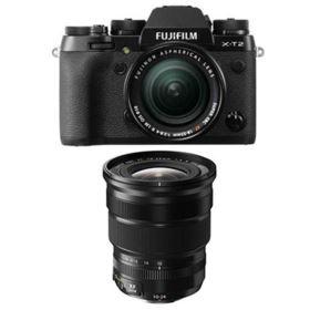 Fujifilm X-T2 Digital Camera with 18-55mm XF lens + 10-24mm f4 R OIS XF Fujinon Lens