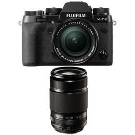 Fujifilm X-T2 Digital Camera with 18-55mm XF lens + 55-200mm f3.5-4.8 R LM OIS XF Fujinon Lens