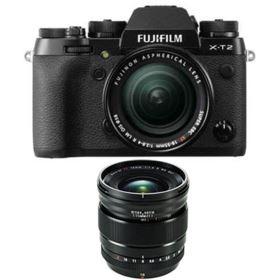 Fujifilm X-T2 Digital Camera with 18-55mm XF lens + 16mm f1.4 R WR XF Lens