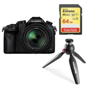 Panasonic Lumix DMC-FZ1000 with SanDisk 64GB 90MB/Sec SDXC and Manfrotto PIXI Tripod