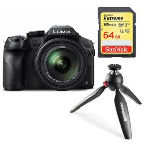 Panasonic LUMIX DMC-FZ330 with SanDisk 64GB 90MB/Sec SDXC and Manfrotto PIXI Tripod