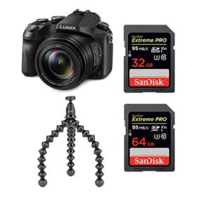 Panasonic Lumix DMC-FZ2000 with SanDisk 64GB + 32GB 95MB/Sec SD and Joby GorillaPod Kit 1K